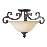Richmond 3 Light 23 inch Colonial Umber Semi Flush Mount Ceiling Light