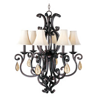 Maxim Lighting Richmond 6 Light Single Tier Chandelier in Colonial Umber 31005CU/CRY094/SHD62 photo thumbnail