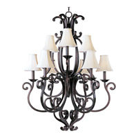 Richmond 9 Light 38 inch Colonial Umber Multi-Tier Chandelier Ceiling Light in Without Crystals, With Shade (62)