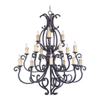 Maxim 31007CU Richmond 15 Light 51 inch Colonial Umber Multi-Tier Chandelier Ceiling Light in Without Crystals Without Shade