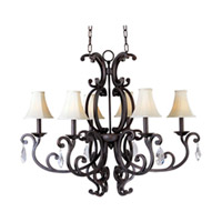 Maxim Lighting Richmond 6 Light Chandelier in Colonial Umber 31009CU/CRY083/SHD62