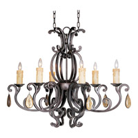 Maxim Lighting Richmond 6 Light Chandelier in Colonial Umber 31009CU/CRY094