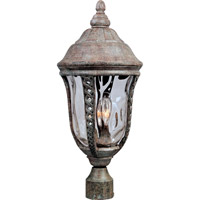 Whittier DC 3 Light 21 inch Earth Tone Outdoor Pole/Post Lantern