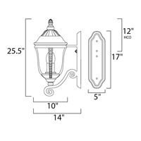 Maxim 3108WGET Whittier DC 3 Light 26 inch Earth Tone Outdoor Wall Mount alternative photo thumbnail