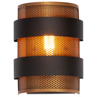 Maxim 31201OIAB Caspian 1 Light 11 inch Oil Rubbed Bronze and Antique Brass Outdoor Wall Sconce