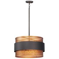 Maxim 31204OIAB Caspian 3 Light 20 inch Oil Rubbed Bronze and Antique Brass Multi-Light Pendant Ceiling Light