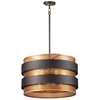 Maxim 31205OIAB Caspian 6 Light 24 inch Oil Rubbed Bronze and Antique Brass Pendant Ceiling Light