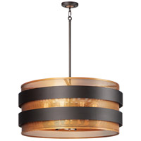 Maxim 31207OIAB Caspian 8 Light 32 inch Oil Rubbed Bronze and Antique Brass Pendant Ceiling Light