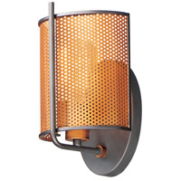Maxim 31211OIAB Caspian 1 Light 7 inch Oil Rubbed Bronze and Antique Brass Wall Sconce Wall Light