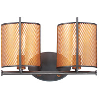 Maxim 31212OIAB Caspian 2 Light 17 inch Oil Rubbed Bronze and Antique Brass Wall Sconce Wall Light