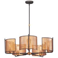 Maxim 31215OIAB Caspian 5 Light 31 inch Oil Rubbed Bronze and Antique Brass Multi-Light Pendant Ceiling Light
