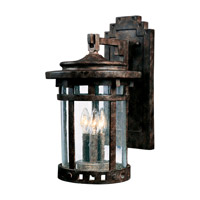Santa Barbara DC 3 Light 16 inch Sienna Outdoor Wall Mount