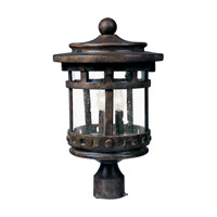 Santa Barbara DC 3 Light 16 inch Sienna Outdoor Pole/Post Lantern
