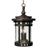 Maxim 3138CDSE Santa Barbara DC 3 Light 9 inch Sienna Outdoor Hanging Lantern