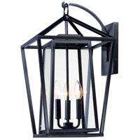 Maxim 3176CLBK Artisan 3 Light 21 inch Black Outdoor Wall Mount