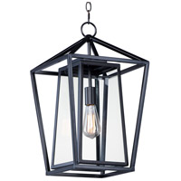 Artisan 1 Light 12 inch Black Outdoor Hanging Lantern