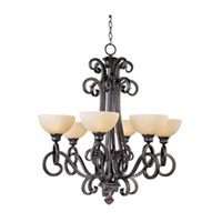 Maxim Lighting Ophelia 6 Light Single Tier Chandelier in Colonial Umber 32305BLCU
