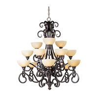 Maxim Lighting Ophelia 15 Light Multi-Tier Chandelier in Colonial Umber 32307BLCU photo thumbnail