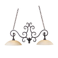 Maxim Lighting Ophelia 2 Light Island Pendant in Colonial Umber 32309BLCU photo thumbnail