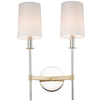 Maxim 32392OFSBRPN Uptown 2 Light 13 inch Satin Brass and Polished Nickel Wall Sconce Wall Light
