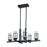 Maxim Lighting Fusion 6 Light Chandelier in Anthracite 32456CLAR