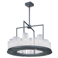 Urban Nights LED 28 inch Textured Black Chandelier Ceiling Light in 25, G9 and LED