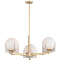 Maxim 32473SWSBRBP Finn 3 Light 22 inch Satin Brass and Brushed Platinum Chandelier Ceiling Light