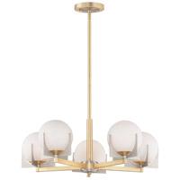 Maxim 32475SWSBRBP Finn 5 Light 26 inch Satin Brass and Brushed Platinum Pendant Ceiling Light