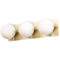 Maxim 32477SWSBRBP Finn 3 Light 25 inch Satin Brass and Brushed Platinum Vanity Light Wall Light