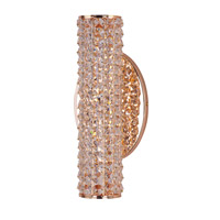 Rose Gold Crystal Bathroom Vanity Lights