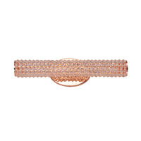 Meteor LED 1 Light 21 inch Rose Gold Vanity Light Wall Light