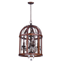 Maxim 32512APBY Miranda 4 Light 15 inch Antique Pecan and Bay Pendant Ceiling Light
