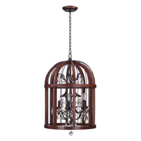 Miranda 6 Light Antique Pecan and Bay Pendant Ceiling Light