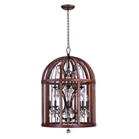 Miranda 12 Light Antique Pecan and Bay Pendant Ceiling Light