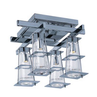 Maxim Lighting Flask 4 Light Flush Mount in Polished Chrome 33000CLPC