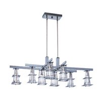 Maxim Lighting Flask 8 Light Chandelier in Polished Chrome 33008CLPC