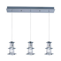 Maxim Lighting Flask 3 Light Pendant in Polished Chrome 33013CLPC
