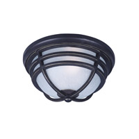 Westport DC 1 Light 13 inch Artesian Bronze Outdoor Flush Mount