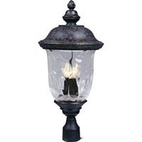 Maxim 3420WGOB Carriage House DC 3 Light 27 inch Oriental Bronze Outdoor Pole/Post Lantern photo thumbnail