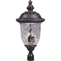 Carriage House DC 3 Light 29 inch Oriental Bronze Outdoor Pole/Post Lantern