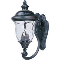 Maxim 3423WGOB Carriage House DC 2 Light 20 inch Oriental Bronze Outdoor Wall Mount