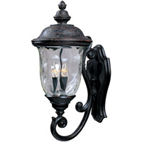Maxim 3424WGOB Carriage House DC 3 Light 27 inch Oriental Bronze Outdoor Wall Mount photo thumbnail