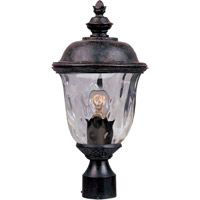 Carriage House DC 1 Light 20 inch Oriental Bronze Outdoor Pole/Post Lantern