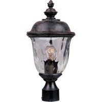 Maxim 3426WGOB Carriage House Dc 1 Light 20 inch Oriental Bronze Outdoor Pole/Post Lantern