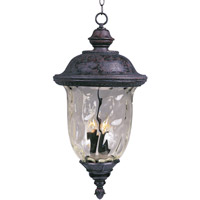 Maxim Lighting Carriage House DC 3 Light Outdoor Hanging Lantern in Oriental Bronze 3427WGOB