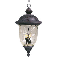 Maxim Lighting Carriage House DC 3 Light Outdoor Hanging Lantern in Oriental Bronze 3428WGOB