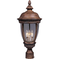 Knob Hill DC 3 Light 23 inch Sienna Outdoor Pole/Post Lantern
