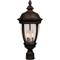 Maxim 3460CDSE Knob Hill DC 3 Light 23 inch Sienna Outdoor Pole/Post Lantern