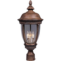 Knob Hill DC 3 Light 28 inch Sienna Outdoor Pole/Post Lantern
