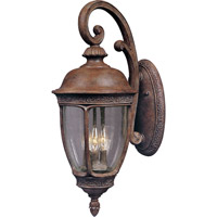 Knob Hill DC 3 Light 20 inch Sienna Outdoor Wall Mount